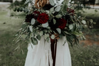 Carly and DJ (Flowers by The Perfect Posey.  Photography by Sarah Joy Smith)