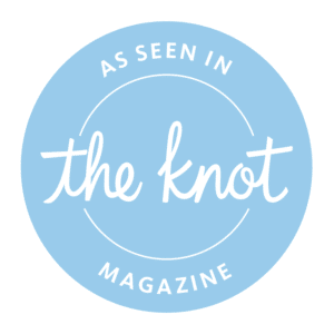 Badge. The Perfect Posey Wedding Florist as seen in The Knot Magazine