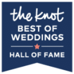 The Knot's Best of Weddings Hall of Fame Badge for Florist Kelly Hillis' The Perfect Posey