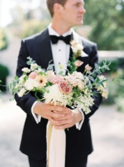 Groom's bouquet Swan House Wedding at Atlanta History Center. Flowers by The Perfect Posey. Sarah Sunstrom Photography