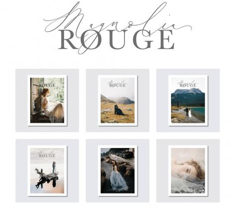 Recent issues of Magnolia Rouge wedding lookbook magazine